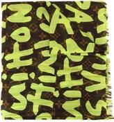 Louis Vuitton pre-owned Leopard Shawl Stole Monogram Graffiti