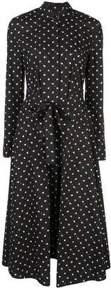 Rosetta Getty Polka Dot Print Shirt Dress