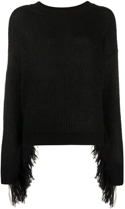Essentiel Antwerp Ribbed Fringe Jumper