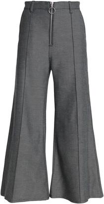 Marques Almeida Cotton-blend Twill Wide-leg Pants