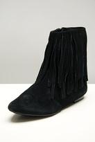 Ursula Black Suede Fringe Boot