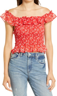 ALL IN FAVOR Ruffle Smocked Tank Top