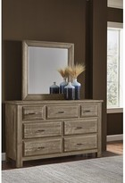 Nixa 7 Drawer Dresser with Mirror Foundry Select Color: Maple Syrup