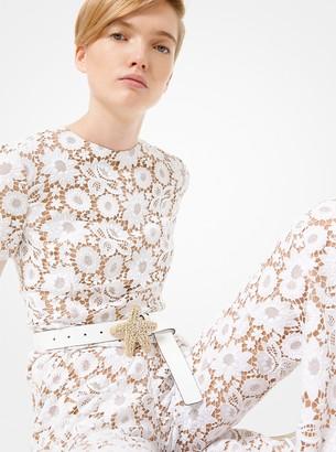 Michael Kors Floral Guipure Jumpsuit