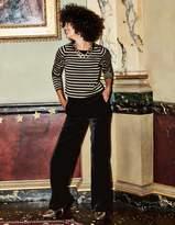 Boden Velvet Wide Leg Pants
