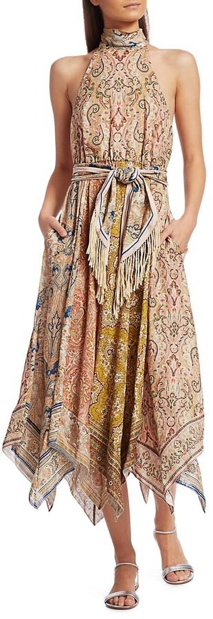 Thumbnail for your product : Zimmermann Freja Scarf Midi Dress