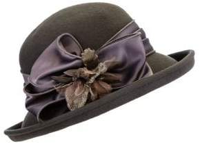 Giovannio Floral Wool & Silk Felt Kettle Brim Hat