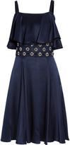 Temperley London Crossbone embellished silk-blend satin dress