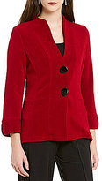 IC Collection Mandarin Collar Two-Button Front Jacket