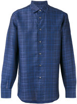 Brioni checked shirt - men - Cotton/Linen/Flax - M