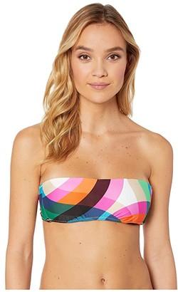 Trina Turk Kaleidoscope Molded Bandeau Top (Multi) Women's Swimwear