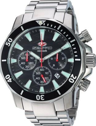 Seapro Men's Scuba Dragon Quartz Watch with Stainless-Steel Strap Silver 23.5 (Model: SP8340)
