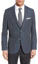 HUGO Men's Boss Janson Trim Fit Windowpane Wool Blend Sport Coat