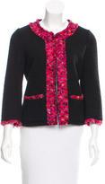 Kate Spade Collarless Woven Jacket