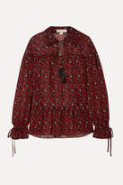 Michael Michael Kors MICHAEL Michael Kors - Printed Georgette Blouse - Red