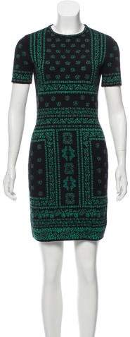 Alexander McQueen Wool Printed Dress