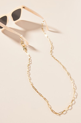 Anthropologie Love Sunglasses Chain By in Gold
