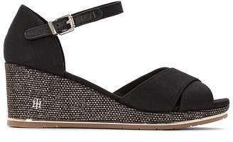 Tommy Hilfiger Estella 2D Wedge Heel Sandals with Beading