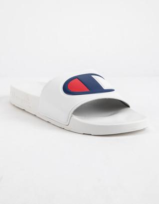 Champion IPO White Mens Slide Sandals