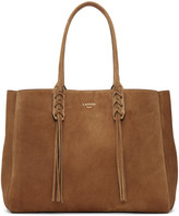 Lanvin Tan Suede Small Shopper Tote