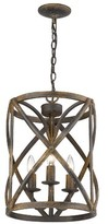 Bungalow Rose Patrice 3 - Light Unique / Statement Cylinder Pendant Finish: Antique Black Iron