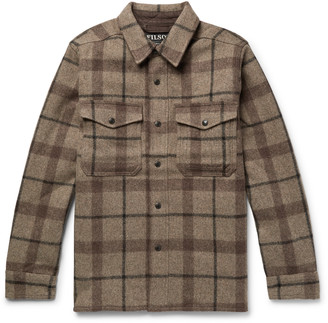 Filson Checked Mackinaw Wool Shirt Jacket - Brown