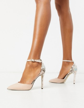 Call it SPRING by ALDO Iconis heeled pumps with ankle strap in pink