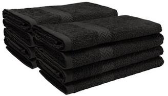 Superior 100-Percent Cotton Eco-Friendly 8-Piece Towel Set - Black