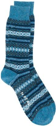 N.Peal Fairisle ankle socks