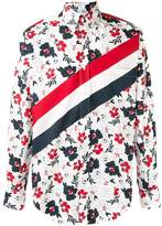 Thom Browne striped floral shirt