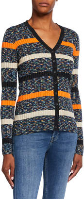 M Missoni Space Dye Striped Long-Sleeve Button-Front Cardigan