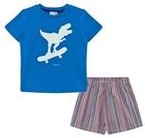 Paul Smith Blue Dinosaur and Stripe Short Pyjamas