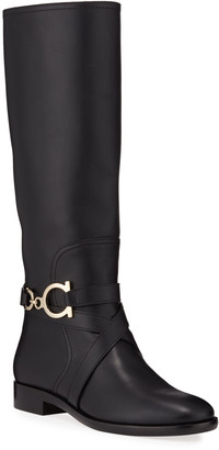 Salvatore Ferragamo Sarah Riding Knee Boots