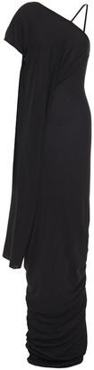 Rick Owens Lilies Asymmetric Draped Jersey Maxi Dress