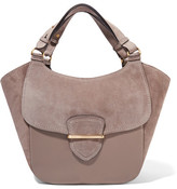 Michael Kors Josie Large Suede And Leather Tote - Mushroom