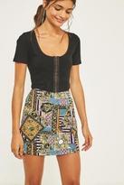 Urban Outfitters Chain Print Pelmet Skirt