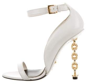 Tom Ford Chain-Link Ankle Strap Sandals