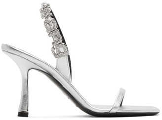 Alexander Wang Silver Ivy Heeled Sandals