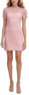 Kensie Lace Puff-Sleeve Sheath Dress