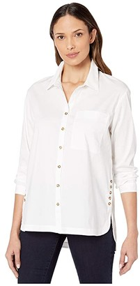 Nic+Zoe Clean + Classic Top (Paper White) Women's Clothing