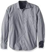 Bugatchi Men's Cotton Shaped Fit Regular Placket Woven