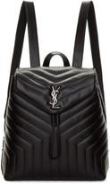 Saint Laurent Black Medium Matelassé Loulou Backpack