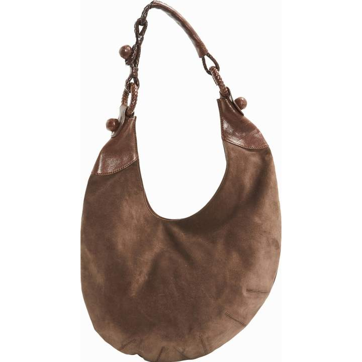 Alexander McQueen Brown Suede Handbag