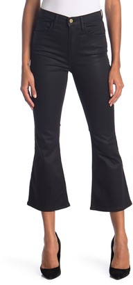 Frame Le Crop Flare Coated Jeans