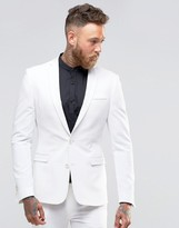 Asos Super Skinny Fit Suit Jacket In White