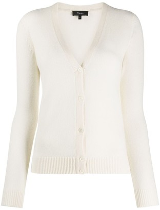 Theory V-Neck Knitted Cardigan