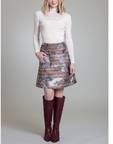 Vivienne Tam Ikat Jacquard Skirt.