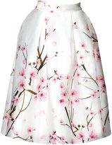 Jiayiqi Girls Spring Summer Skirt Sakura High Waistband Knee Length Skirt L