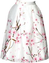 Jiayiqi Women's Printed Vintage Cocktail Flare Skirts M