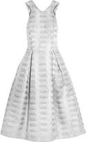 Mary Katrantzou Laguna Metallic Jacquard Dress - Silver